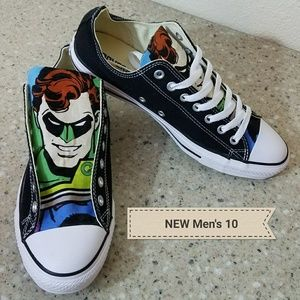 NEW Converse All Star Green Lantern Mens 10